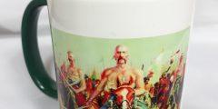 Печать на чашке - козаки