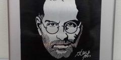 Печать на металле - портрет Стива Джобса