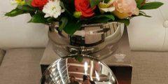 Лазерная гравировка на кастрюле с букетом