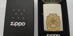 Подарок военному - оригинальная зажигалка ZIPPO с лазерной гравировкой в виде эмблемы бригады