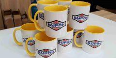 Печать на чашках - логотип компании