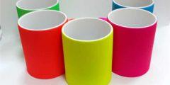 Чашки для печати ярких, кислотных цветов