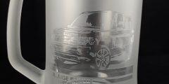 Гравировка на стеклянной пивной кружке - Range Rover