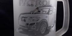 Гравировка на стеклянной пивной кружке - Patrol