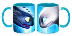 Печать на чашках - драконы