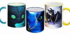 """Печать на чашках - из серии """"Как приручить дракона"""""""