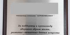 Печать на металле - диплом на деревянной подложке