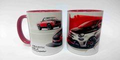Печать на чашках - автомобили Abarth