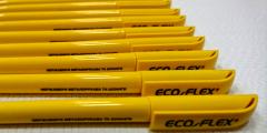 Двух уровневая УФ печать на пластиковых ручках