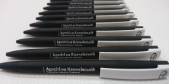 Ручка с УФ печатью на теле и на клипе