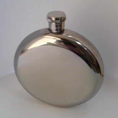 Фляга металлическая Hip Flask Round Silver