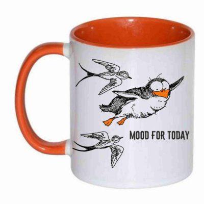 Чашка с рисунком летящий пингвин