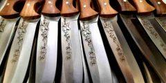Лазерная гравировка на охотничьих ножах